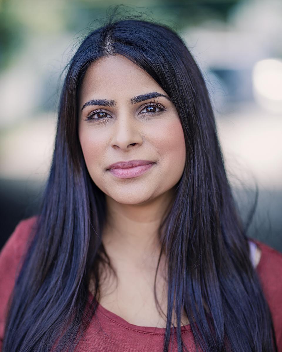 Actress Risha Nanda Location Headshot