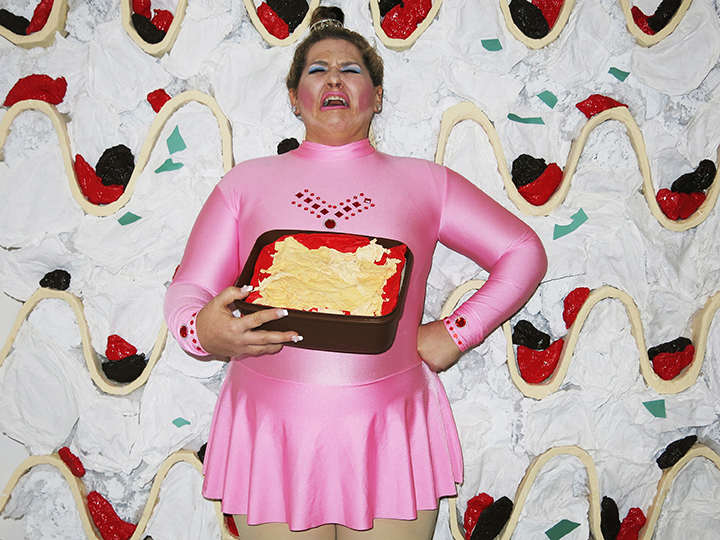 Self-portrait as Lasagna Harding by food'lebrities