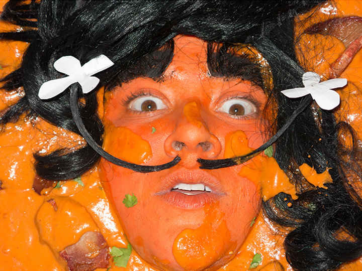 Self-portrait as Chicken Tikka Masalvador Dali by food'lebrities