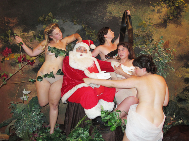Self-portrait as Santa in Nymphes et Satyre by William-Adolphe Bouguereau/Santa by DerAlt