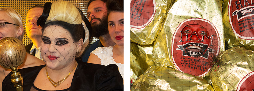 Self-portrait as Lady Gaga/Self-portrait as a ham in Lady Gaga at the 2012 Grammys Totally Looks Like a Ham by ichc.brian