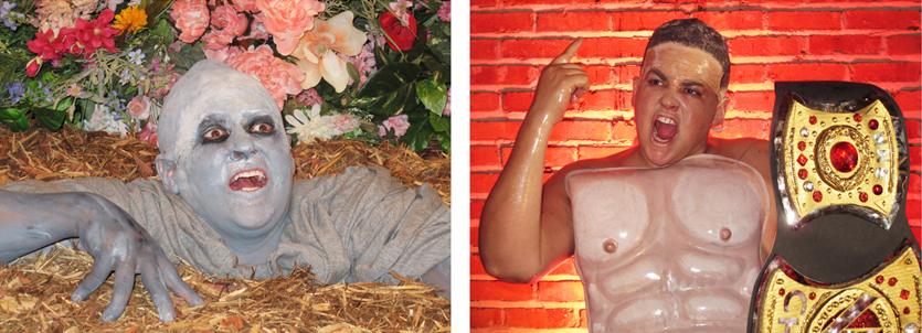 Self-portrait as This Lawn Zombie/Self-portrait as John Cena in This Lawn Zombie Totally Looks Like John Cena by Unknown