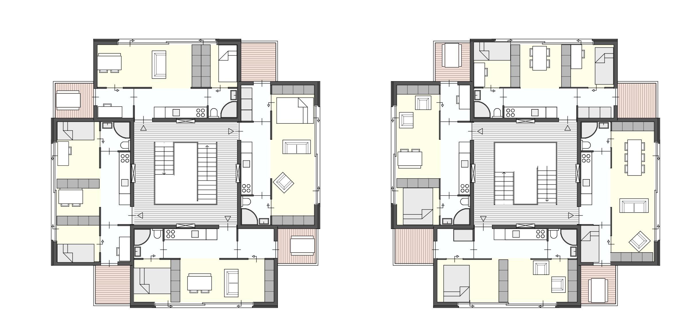 plattegrond stapelbare microappartementen