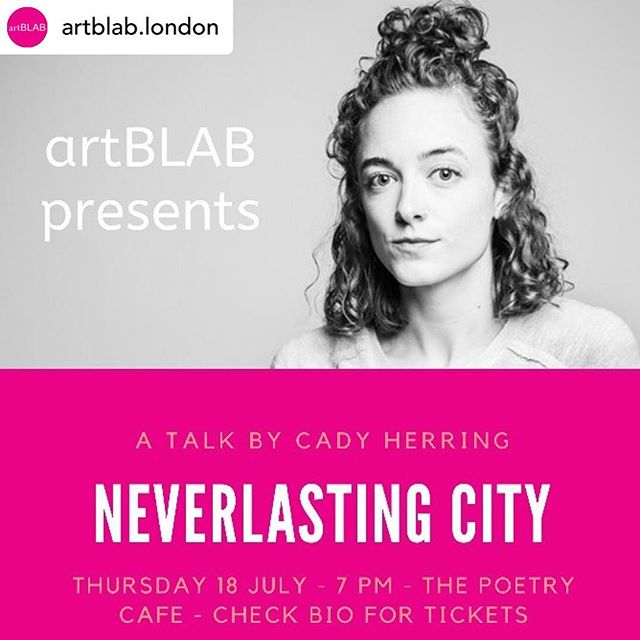 """So excited to talk about this work next week!  _______________________ Posted @withrepost • @artblab.london  One week! Come on the 18th July to @poetrycafelondon and listen to photographer Cady Herring and other speakers! Follow her on @cadyherring  Shot in Herring's native Mississippi, """"Neverlasting City"""" explores the Columbia Training School, a former juvenile detention center for girls. The project weaves images with text to form a braid which frames the roles of time and decay on the decrepit remains of the abandoned grounds. Herring hopes to invite the viewer to contemplate toll of lost childhood, the ruin that abuse brings, and the detailed attention that formative years deserve.  At artBLAB, she will speak about """"Neverlasting City"""" and """"Lo. Lee. Ta.,"""" hoping to question their relationship to an ideological climate marked by child detention, female empowerment, and political art.  Cady is a photographic artist living in London. She's currently studying photography at the London College of Communication. Cady studied journalism and international studies at the University of Mississippi where she was the photo editor of The Ole Miss (2015) and The Daily Mississippian (2014) and editor-in-chief of The Ole Miss (2017). #creativetalks #artists #talks #funevent #presentations #london #londontalks #artblab #thisislondon #londonart #londonarttalks #londonevents"""