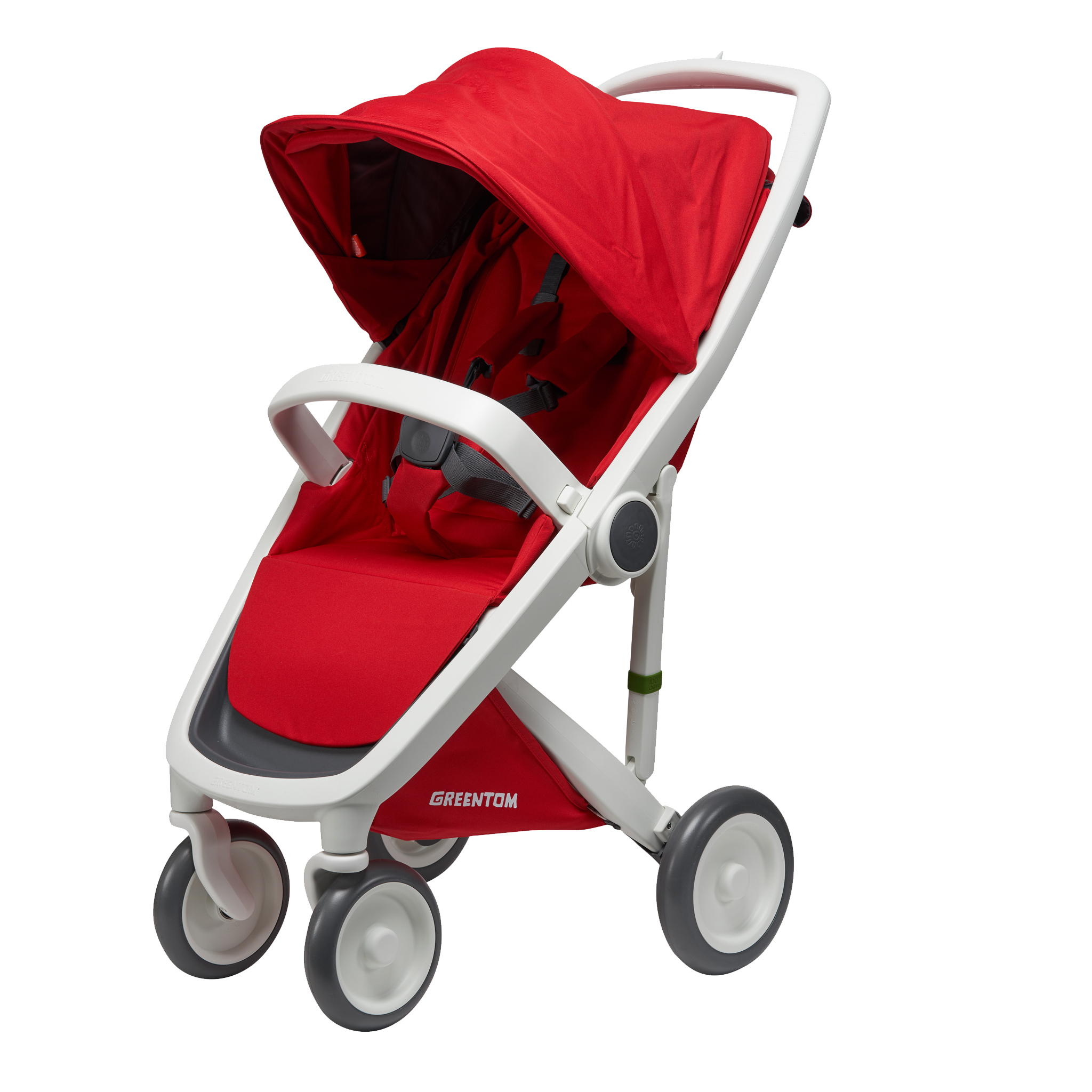 Greentom Baby Stroller    The Greentom frames are made of post consumer waste and the fabric is made of recycled soft drink bottles (PET). The stroller is made out of 97 % recycled plastic. The mattress of the Carrycot is 100% natural: made of wool, flax and organic cotton.