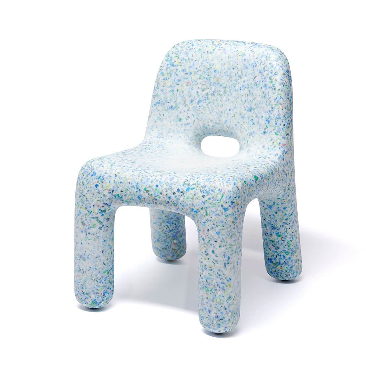 ecoBirdy: Charlie Chair Ocean    This kid's chair by ecoBirdy is made out of 100 % recycled plastics and is fully recyclable. It is made with  ecothylene®  : an innovative material developed by ecoBirdy.