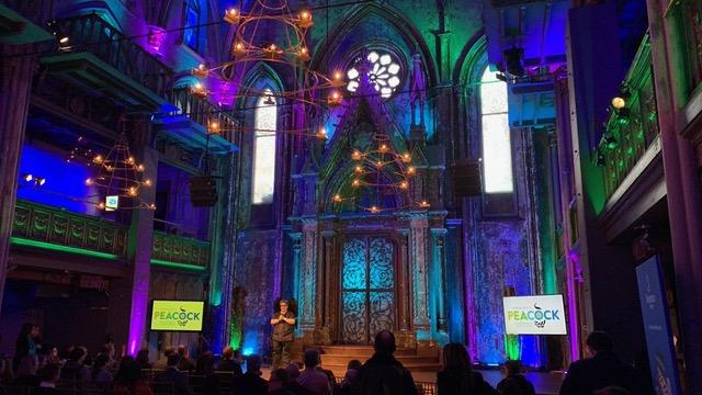 Deborah hosting Project Peacock in NYC.