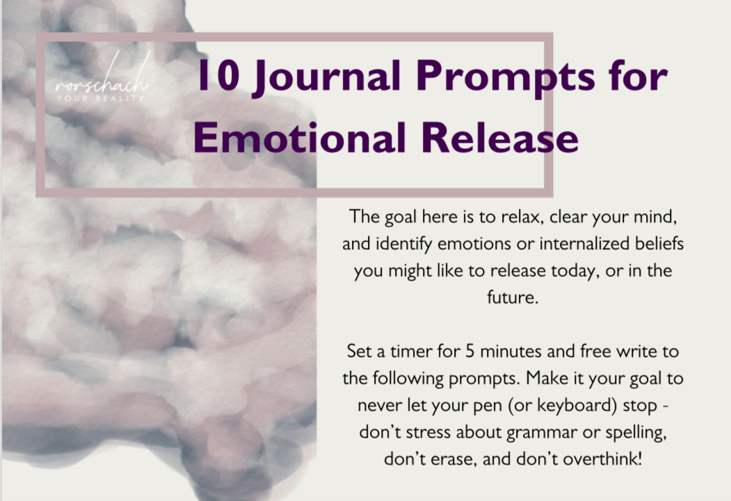 Freebie alert! - Grab a set of 10 Journal Prompts for Emotional Release!