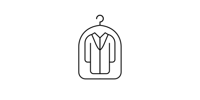 Dry Cleaning icon - a suit in a bag