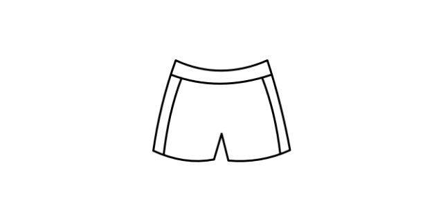 Gym kit icon - a pair of gym shorts