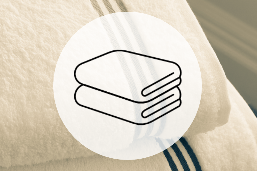 Towel service icon - two folded towels
