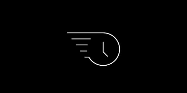 Fast icon - a clock face