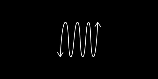 Flexible icon - a spring with arrows