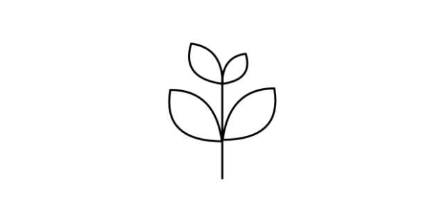 Sustainable icon - a plant with leaves