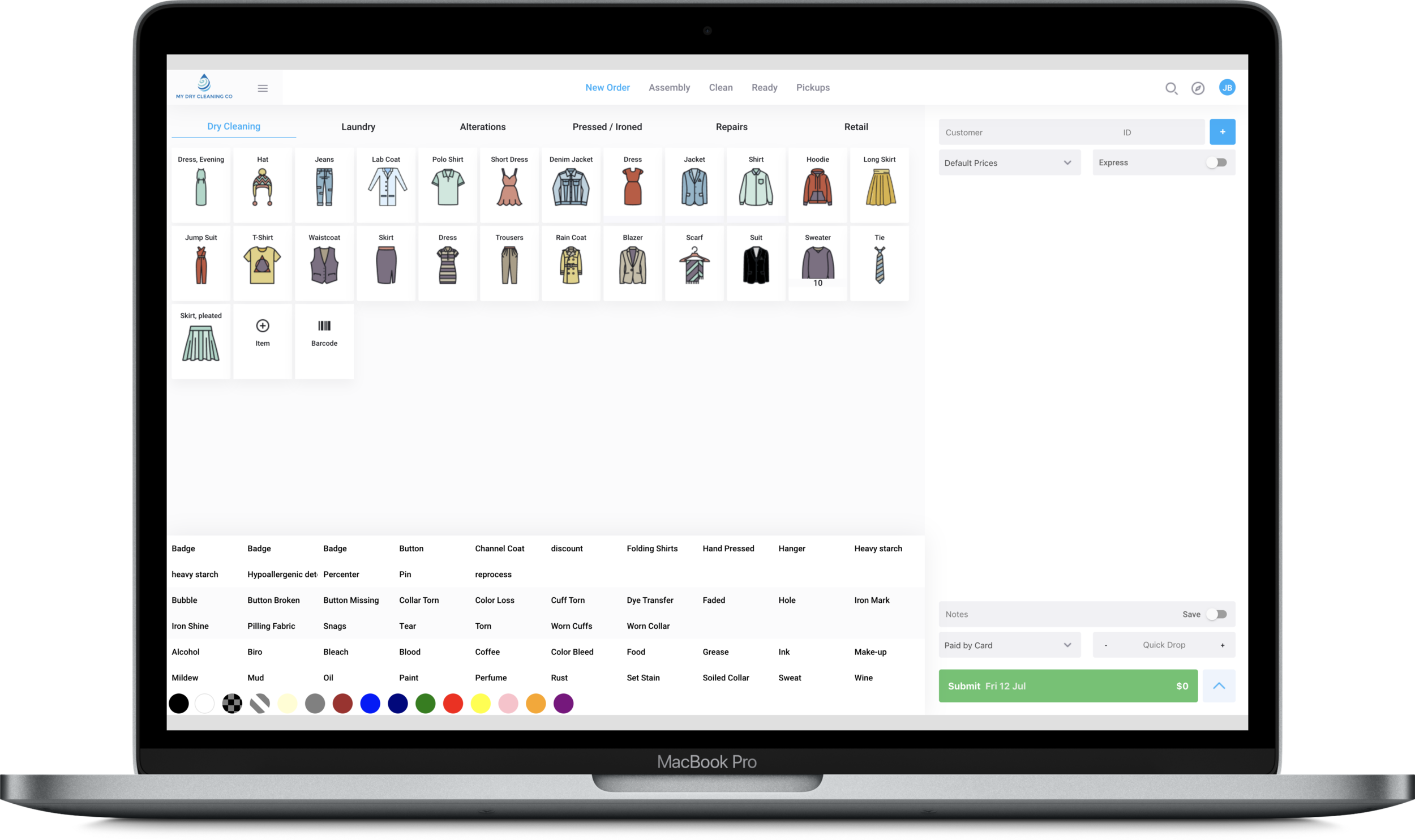 THE CLEANCLOUD EXPERIENCE. - The client drops their items; we process them through our system adding any notes and/or photos as needed. They can pay at drop-off or on collection. The client receives a notification via their chosen method that their items are ready for collection. They can pay by cash or card.
