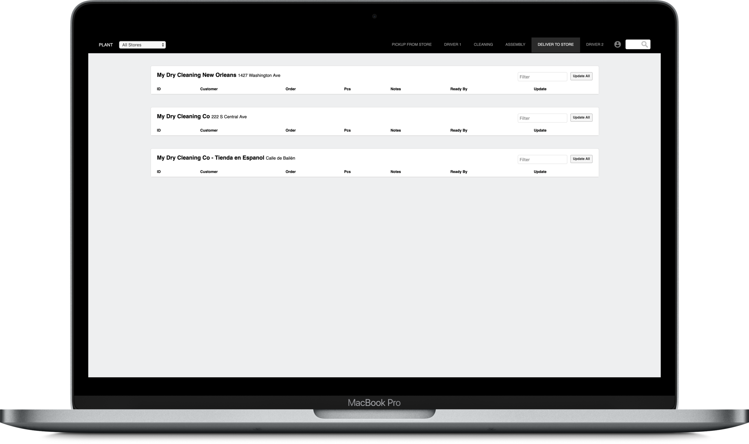 EFFICIENT ORDER MANAGEMENT. - From the back-office we can efficiently manage and track all orders across all our locations in at one glance. We can view reports that analyse our customers' needs in order to continually find ways to provide a better, more tailored service.