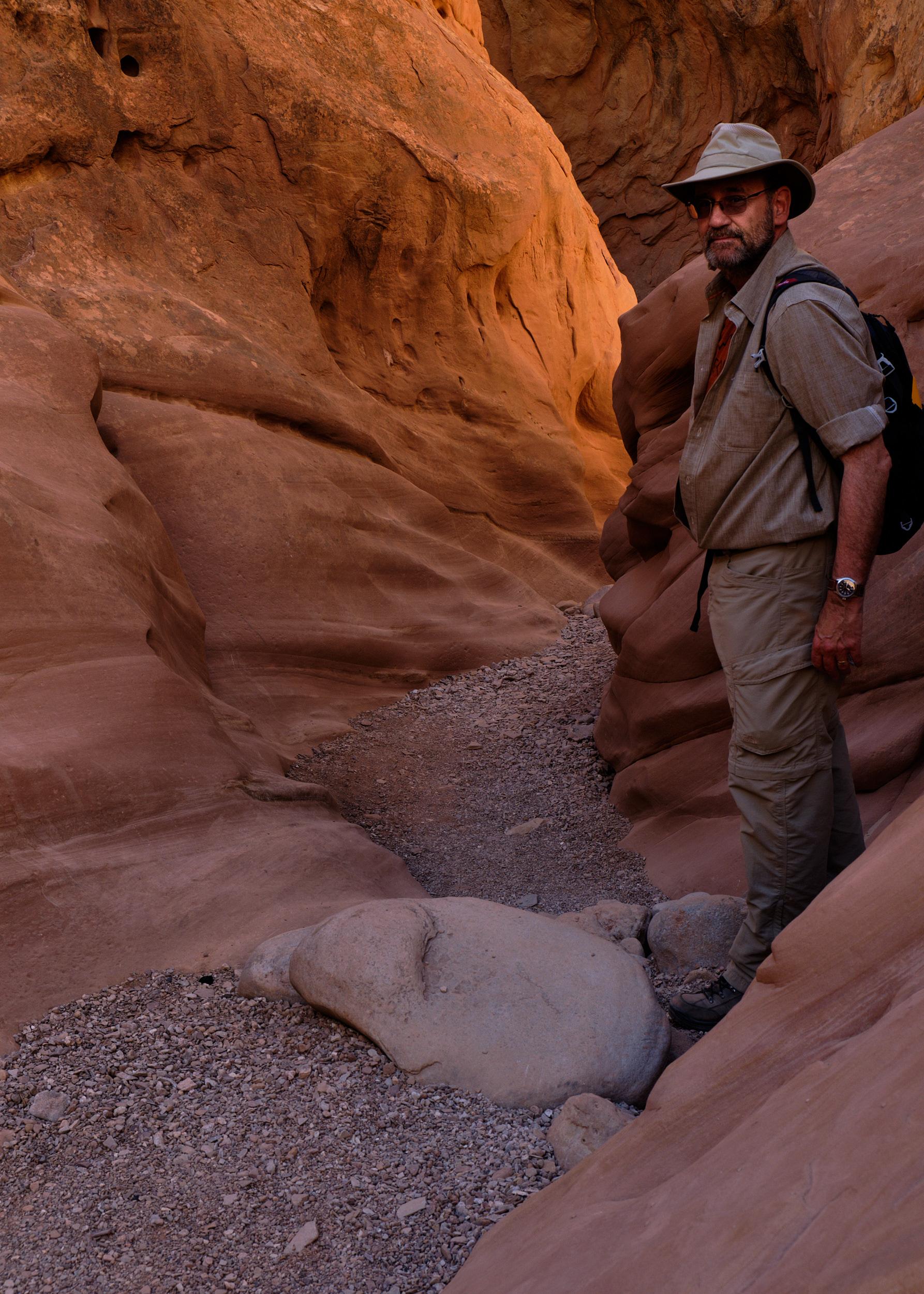 Dan, doing one of his favorite activities - exploring beautiful places.