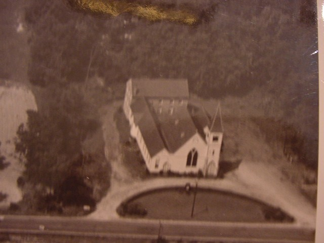 1941 arial view of the church