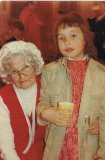 Edith Childrey was 'Mrs. Clause'. She is the lady who raised Vi Salsgiver. She and Mrs. Calvert were both very proper ladies.