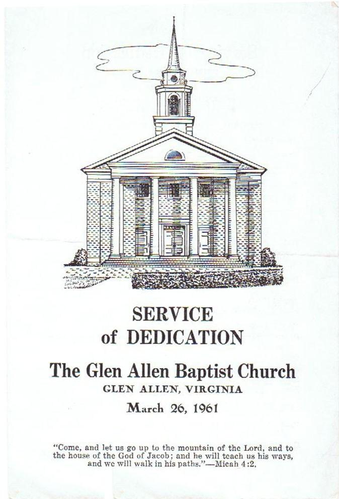 Dedication bulletin