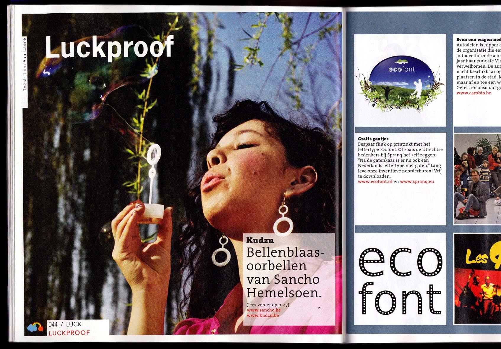 'Luck Magazine' - Belgian lifestyle magazine