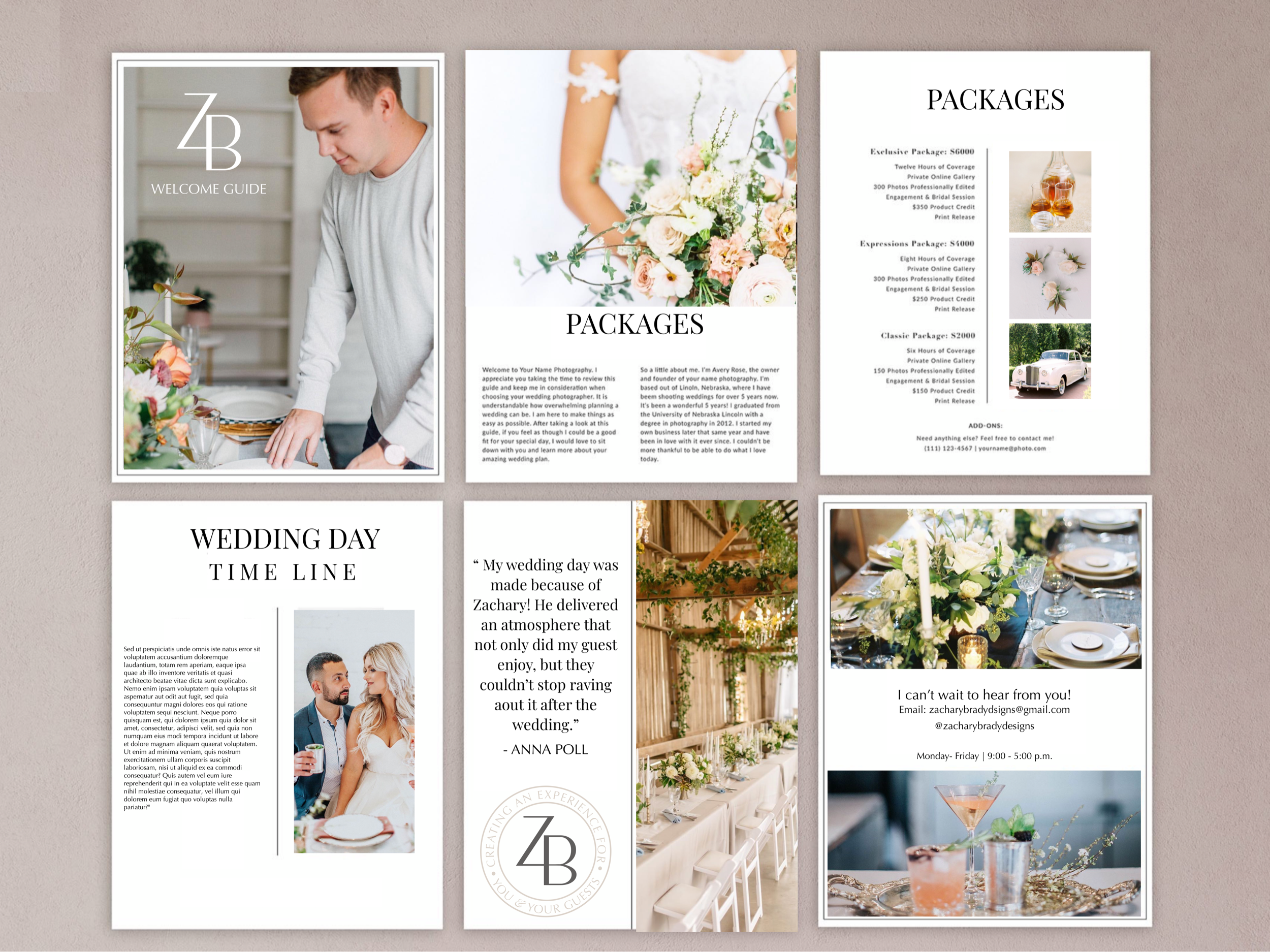 A La Carte - + Website design- starting at $2, 500+ Leadpage Design starting at $350+Welcome Booklet PDF- starting at $450+ Program/ Course Launch+ Custom Story templates+ Ebook - please contact+ Workbook- please contact