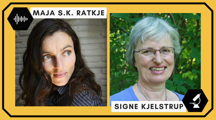 Maja S.K. Rajkje (singer/vocalist, electronics performer, and engineer) and Signe Kjelstrup (professor of physical chemistry.)