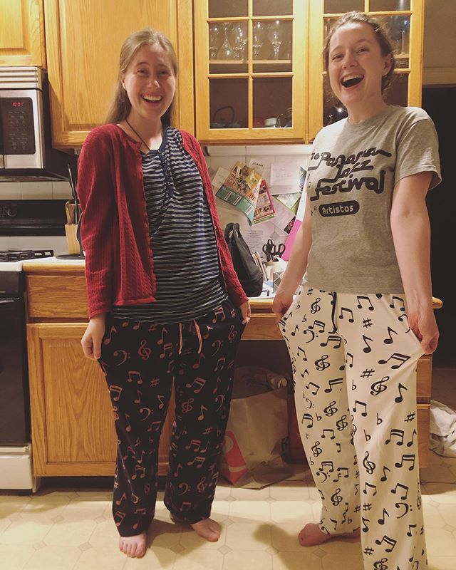 Julia and Sarah are almost as excited about their matching pj's as we are about tomorrow's concert! Hope you can join us! 1:30PM, 6/10, Beacon Hill Friends House Boston.