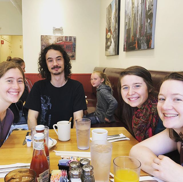 Final breakfast together before Sarah and Antoine head back to Montreal! It's been such a lovely week and we are excited to play again soon. (Note the spectacular photo bomb)