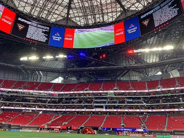 Breaking my no posts on Sundays rule. #USWNT, #atlutd #worldcup2019 in Mercedes Benz stadium. So much fun!