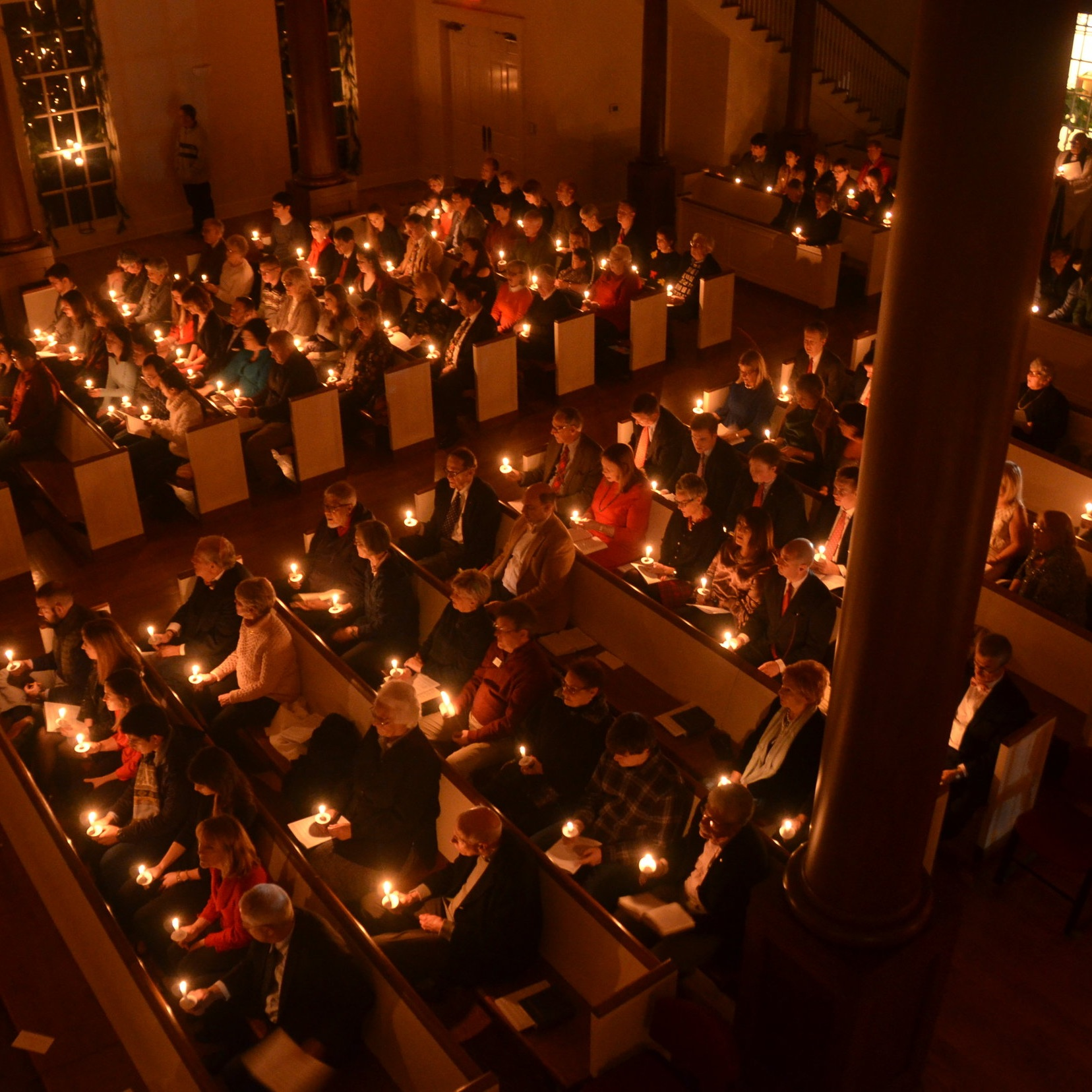 Candlelit church service
