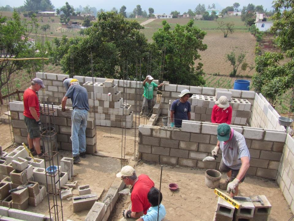 Building houses in Guatemala