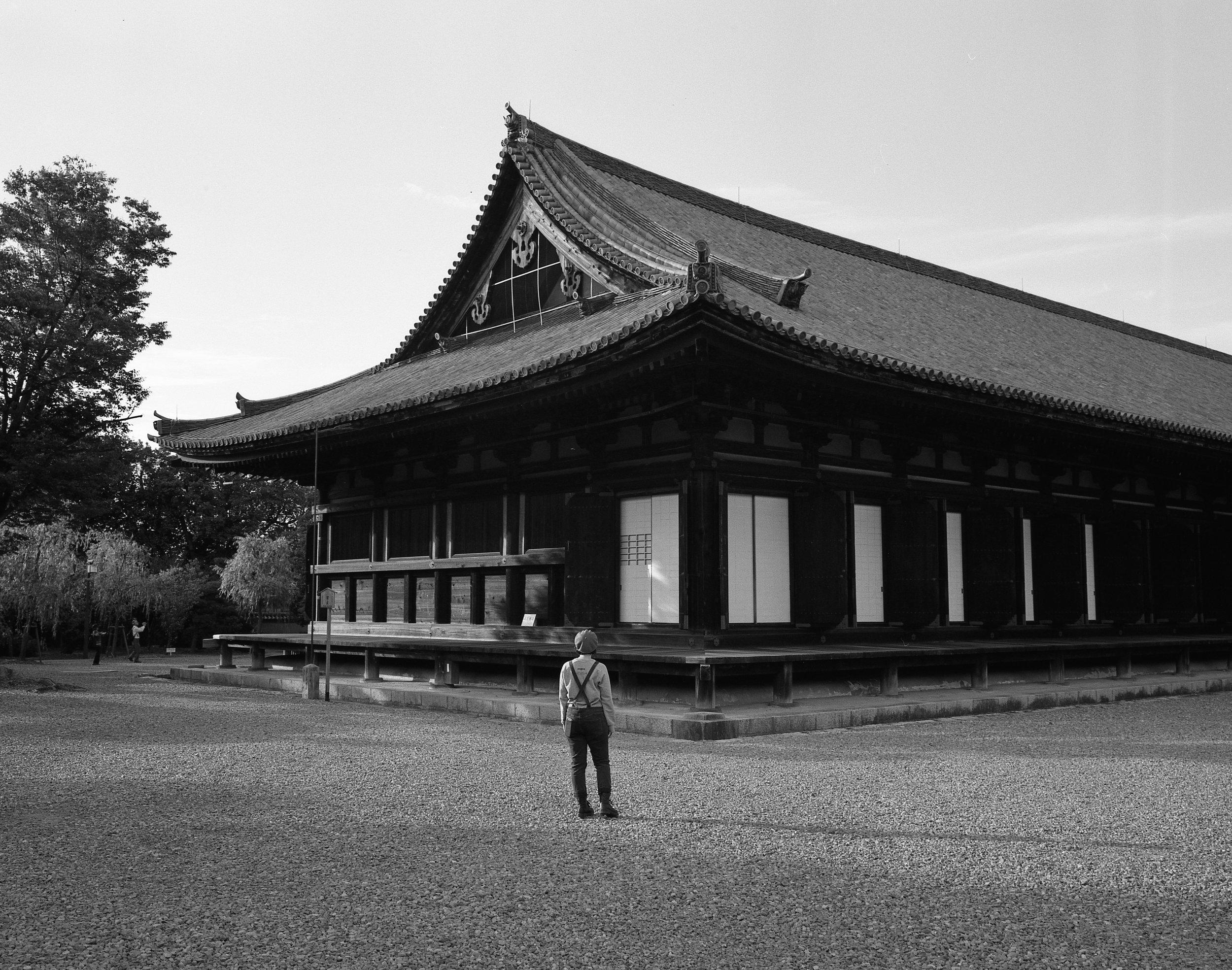 Sanjusangendo Buddhist Temple in Kyoto (Mamiya 7ii Ilford HP5+)