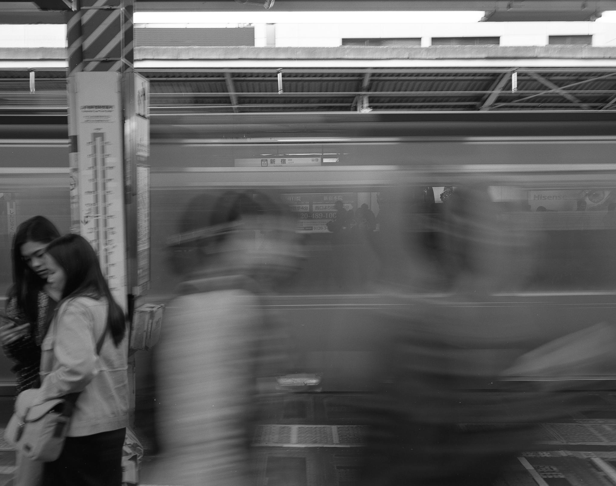 Ghosts in Transit (Mamiya 7ii Ilford HP5+)