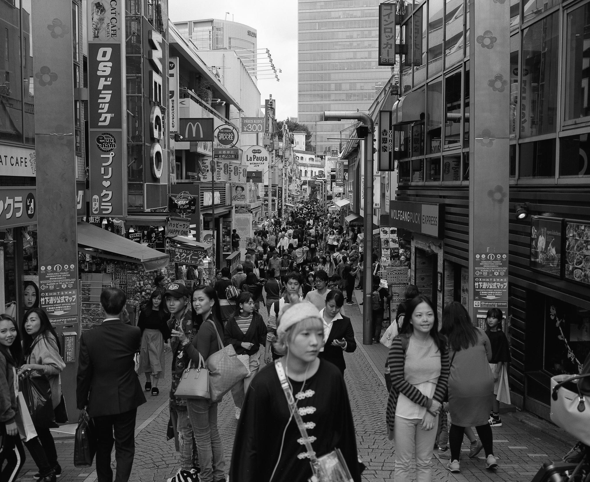 Takeshita Street (Mamiya 7ii Ilford HP5+)