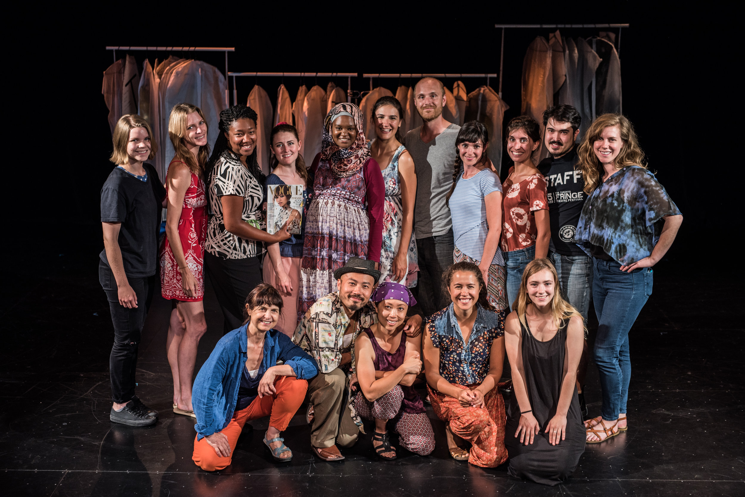 The entire cast and creative team for SWEAT. Photography by Dahlia Katz.