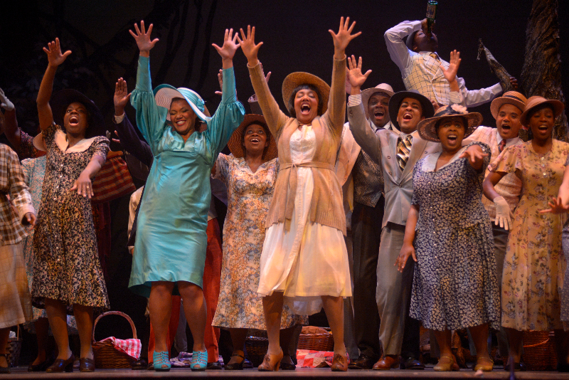 Myself, Measha Brueggergosman and the Porgy and Bess Opera Chorus 2014