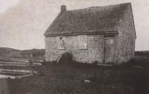 The Mooresfield schoolhouse circa 1880.