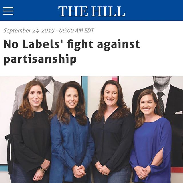 So proud of @nolabelsorg being featured in @thehill this morning, sharing an impactful message.