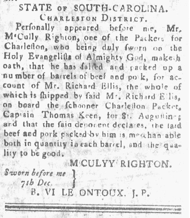 Charleston Evening Gazette, December 7 1785.PNG
