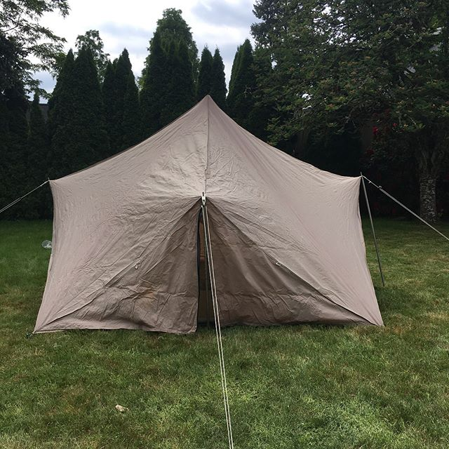 """Tent #15. This is a 10x10 TT. Made out of Polytex with a 5"""" stovehole. Great condition and comes with a new pole set. This tent goes for $400."""