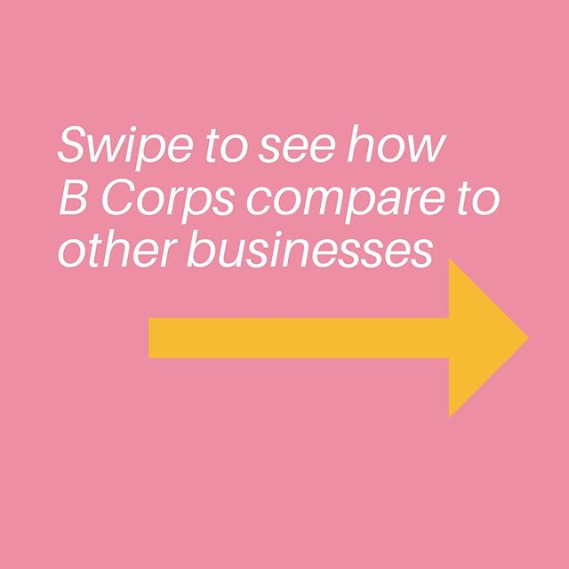 Week 2 of #bcorpmonth aimed to shine a light on the 5 impact areas of the B Impact Assessment (BIA). The BIA is an assessment companies take to become B Corp certified where you'll get a score for your impact on environment, workers, customers, governance and community.  To give you a sense of the collective impact the #bcorp community is having, we compared B Corps with other businesses and here's what we found…  #impact #purpose #betterbusiness #community
