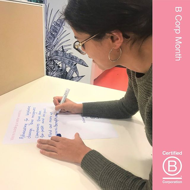 How do we at B Lab continue to improve? We want our certification tools to be available for all businesses to start and measure their impact journey. We are working hard to engage and educate the wider community about what B Corp certification stands for and how to educate the public to buy, partner with or become a B Corp (cue B CORP MONTH)! This week we want you to share your stories about your certification journey and how you plan on improving your businesses' impact! 🥳🅱️🙌🏼 #bcorpmonth #certification #engagement #impactimprovement #betterbusiness