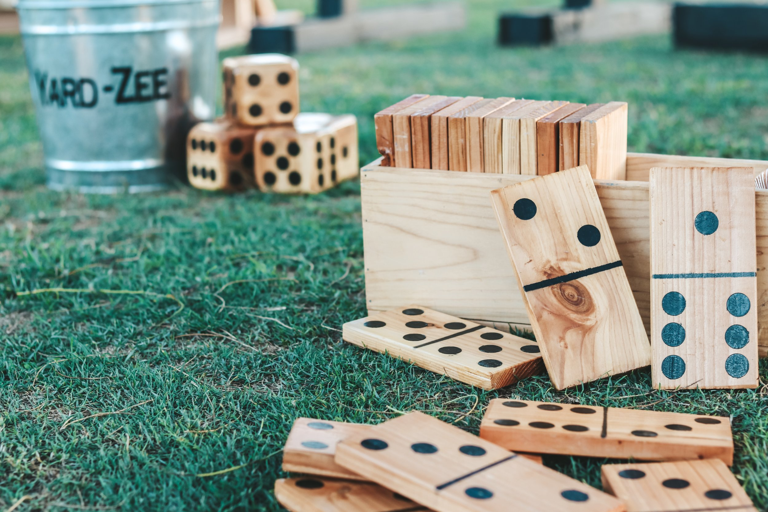 picture of wooden dominos