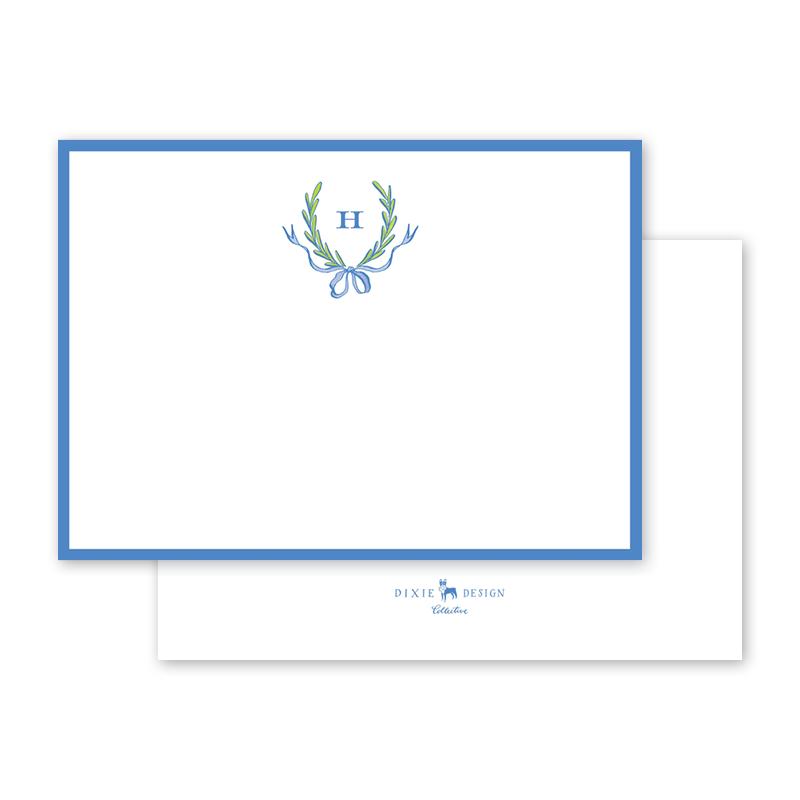 2018_Hollon_Ribbons and Garland Blue Flat Notecard_A6_thumb_01.png