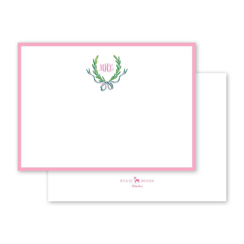 2018_Hollon_Ribbons and Garland Pink Flat Notecard__A6_thumb_01.png