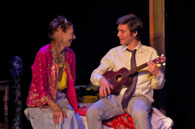 Penny Safranek and Brian Adam Davis Harold and Maude, Pacific Resident Theater, 2010 Photo by Vitor Martins
