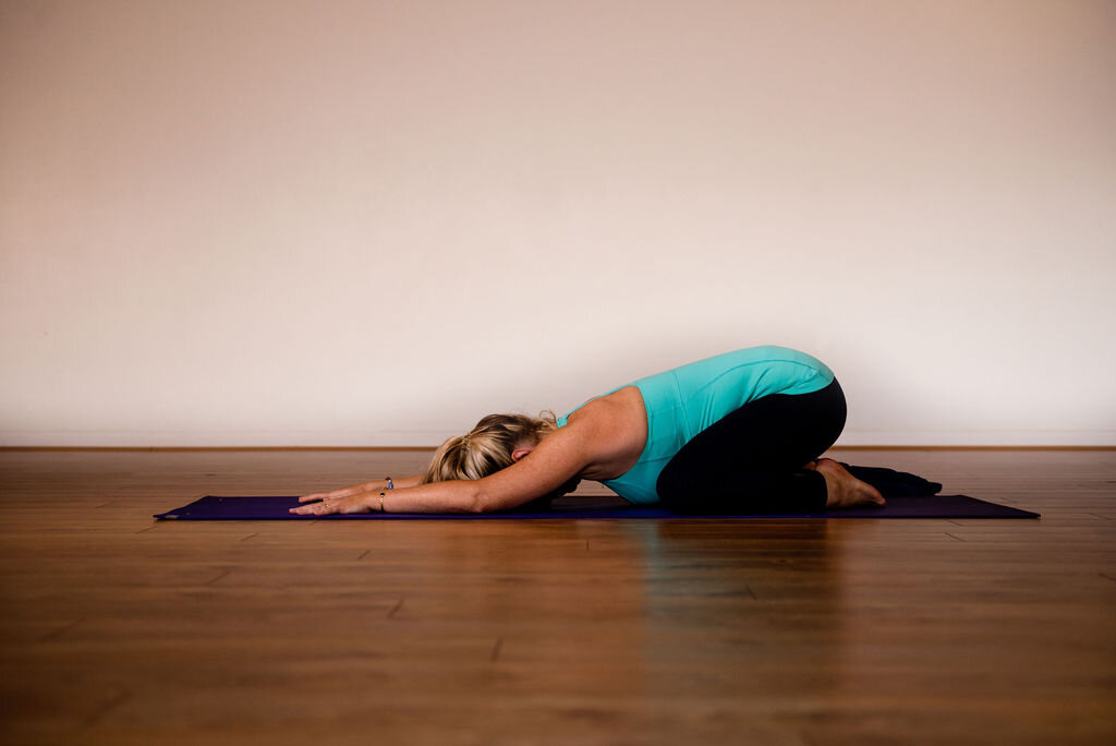 Childs pose, a resting place to calm the mind