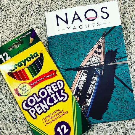 Naos Yachts custom coloring book