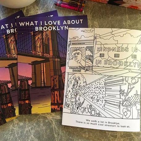 Brooklyn bridge coloring book